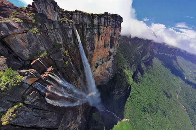 водопад фото анхель